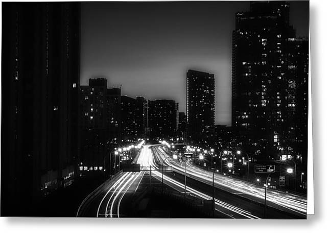 Road Travel Greeting Cards - Night Over Toronto Greeting Card by Verne Ho