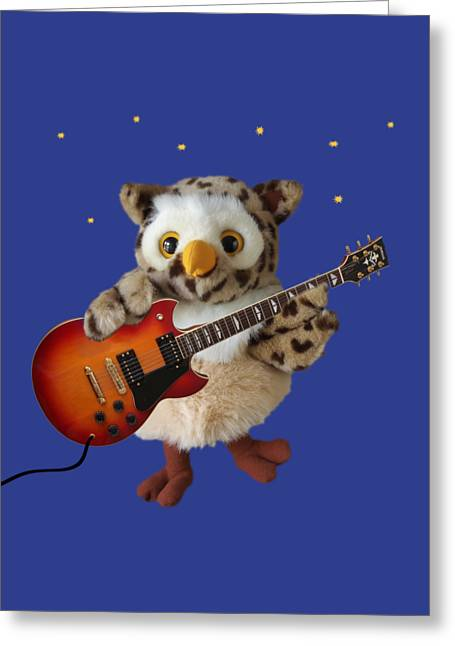 Night Owl Greeting Card by Gill Billington