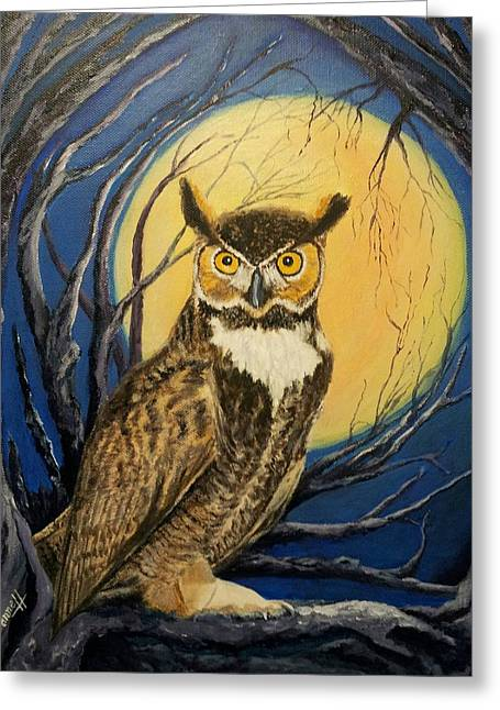 Night owl painting by janne henn for Night owl paint color