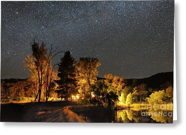 Moonlit Night Greeting Cards - Night Sky, Australia Greeting Card by Alex Cherney, Terrastro