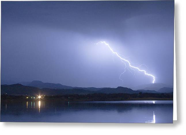 Lightning Bolt Pictures Greeting Cards - Night Strike Greeting Card by James BO  Insogna