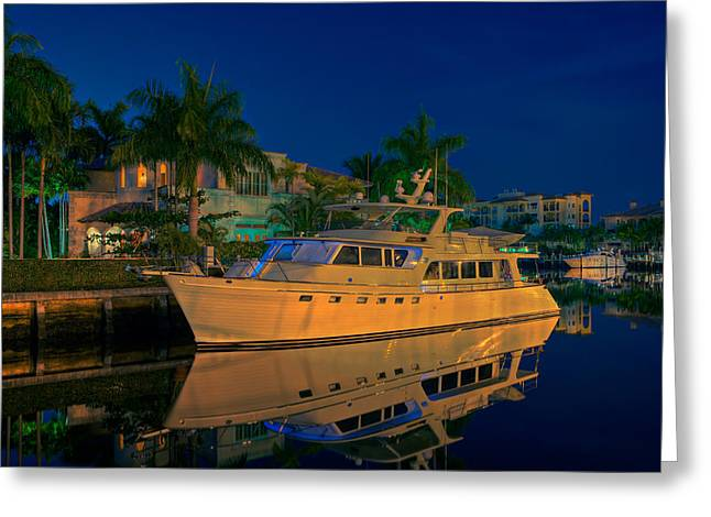 Night Time In Fort Lauderdale Greeting Card by James O Thompson