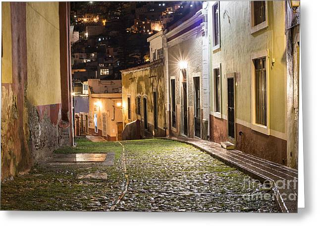 Exposure Greeting Cards - Night Time in Guanajuato Mexico Greeting Card by Juli Scalzi