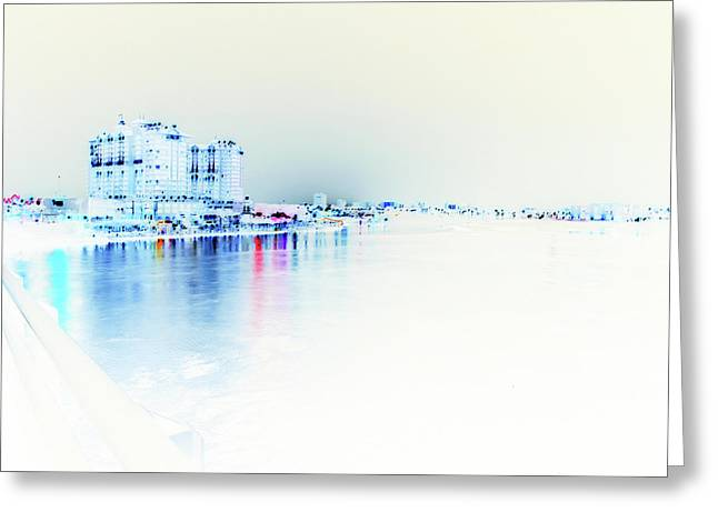 Inverted Greeting Cards - Night to White Over The Water Greeting Card by James Granberry