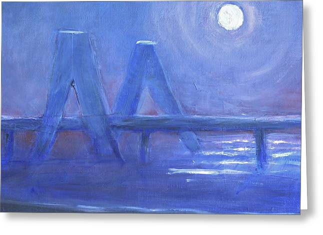 Faa Featured Paintings Greeting Cards - Night Vision Greeting Card by Marla McPherson