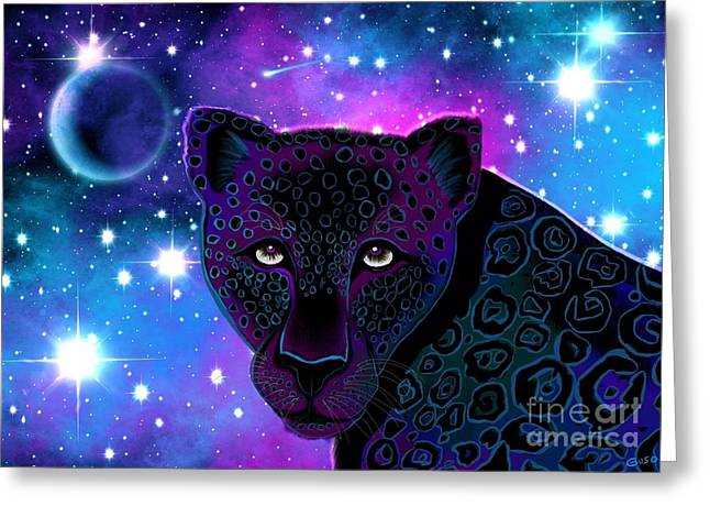 Jaguars Greeting Cards - Night Watcher Greeting Card by Nick Gustafson