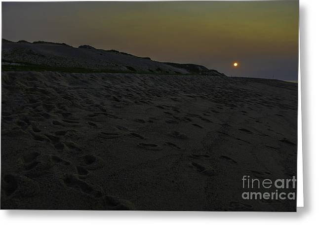 North Sea Greeting Cards - Nightfall Greeting Card by Amanda Sinco