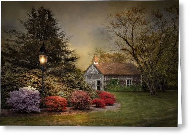 Sheds Greeting Cards - Nightfall Greeting Card by Robin-lee Vieira