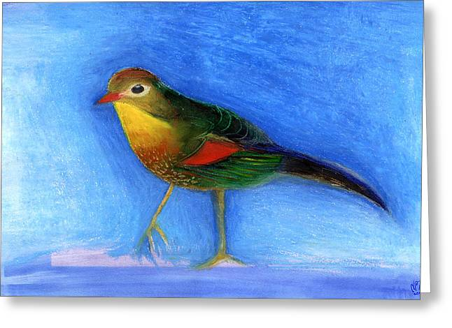Initialed Greeting Cards - Nightingale Light Greeting Card by Nancy Moniz