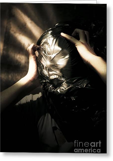 Suffocation Greeting Cards - Nightmare Screams Greeting Card by Ryan Jorgensen