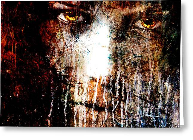 Nights Eyes Greeting Card by Marian Voicu