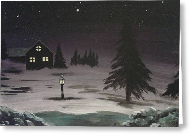 Streetlight Greeting Cards - Nights like these Greeting Card by New Chapter Art