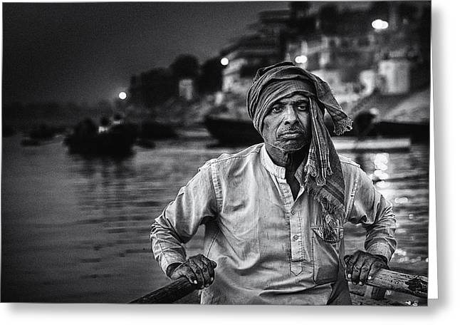 Urban Man Greeting Cards - Nights On The Ganges Greeting Card by Piet Flour