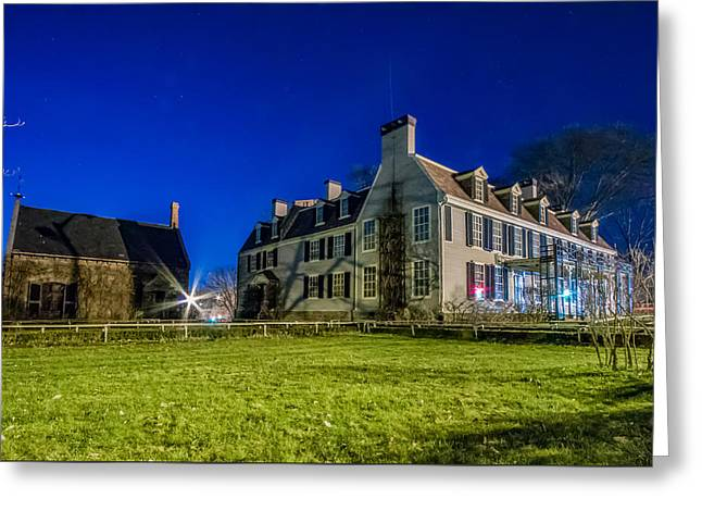Boston Ma Greeting Cards - Nighttime at the Adams House Greeting Card by Brian MacLean