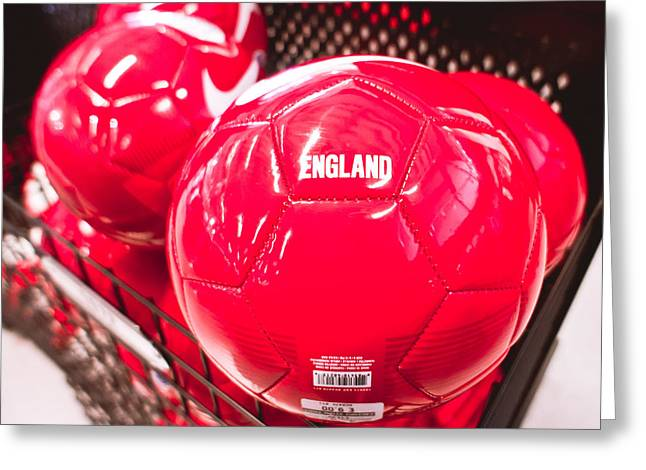 Nike Greeting Cards - Nike balls Greeting Card by Tom Gowanlock