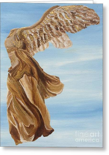 Nike Of Samothrace Greeting Cards - Nike Goddess of Victory Greeting Card by Ashley Baldwin