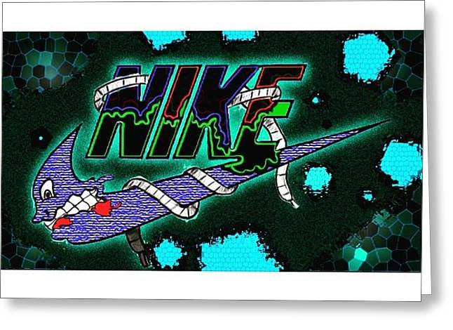 Nike Greeting Cards - Nike  Greeting Card by Randy Louviere