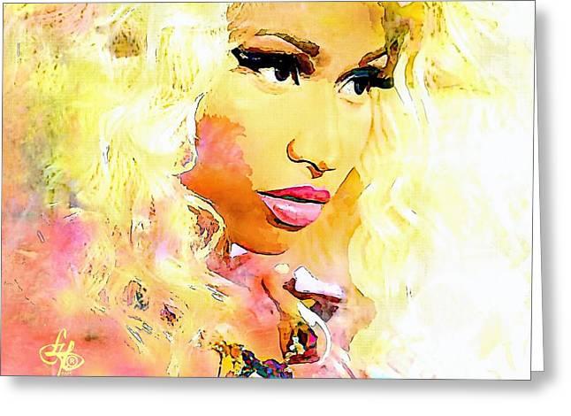 Niki Minaj Greeting Cards - Nicki Minaj Greeting Card by Lynda Payton