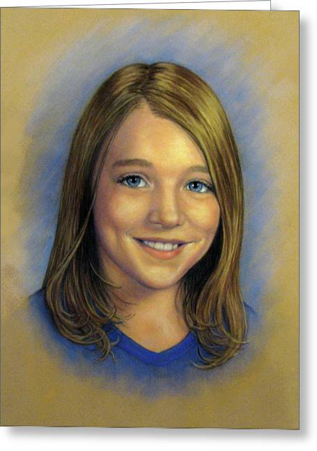 Commissions Pastels Greeting Cards - Niki Greeting Card by Tanja Ware