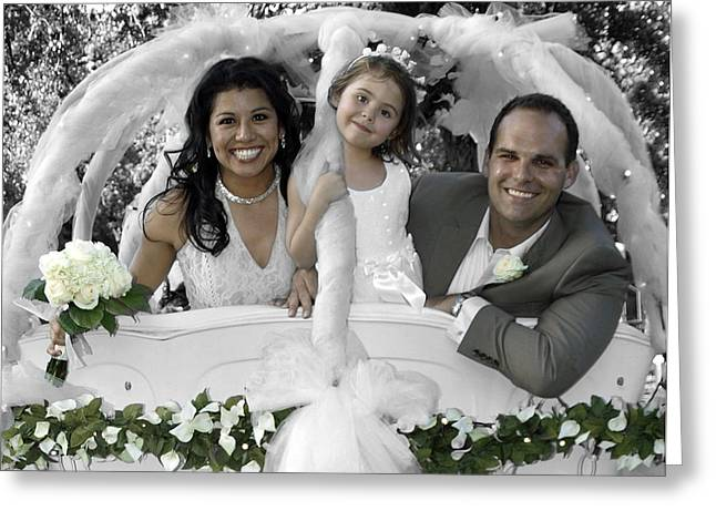 Just Married Greeting Cards - Nikki and Kris Just Married II Greeting Card by James Granberry