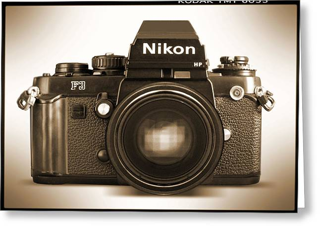 Mike Mcglothlen Photography Greeting Cards - Nikon F3 HP Greeting Card by Mike McGlothlen