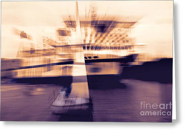 Sailboat Art Greeting Cards - Nils Holgersson Greeting Card by Viaina