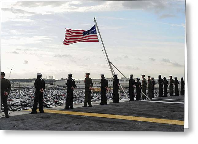 Remembering The Life Greeting Cards - Nimitz-class aircraft carrier USS Theodore Roosevelt  Greeting Card by Celestial Images