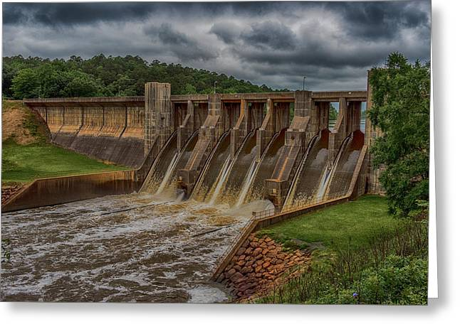 Arkansas Greeting Cards - Nimrod Dam Greeting Card by Paul Freidlund