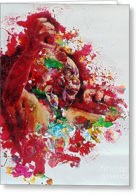 Nina Simone Greeting Cards - Nina Simone Greeting Card by Massimo Chioccia