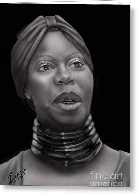 Nina Simone Greeting Cards - Nina Simone-Revolution Greeting Card by Reggie Duffie