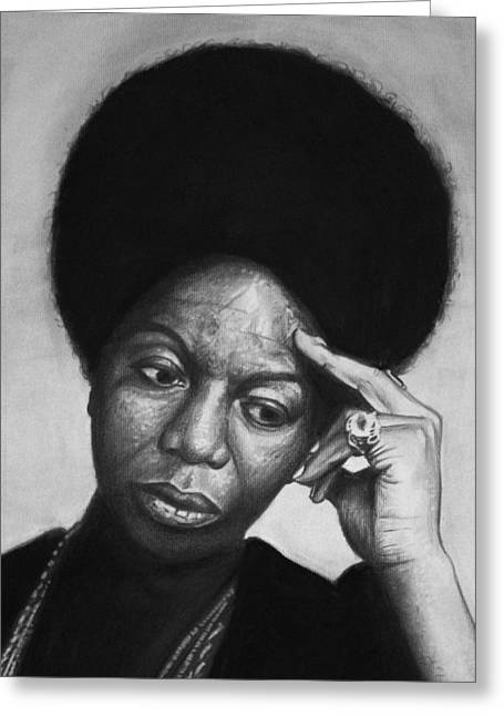 Nina Simone Greeting Cards - Nina Simone Greeting Card by Steve Hunter