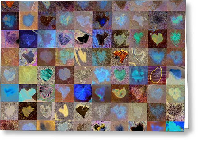 Grid Of Heart Photos Digital Greeting Cards - Nine Hundred Series Greeting Card by Boy Sees Hearts