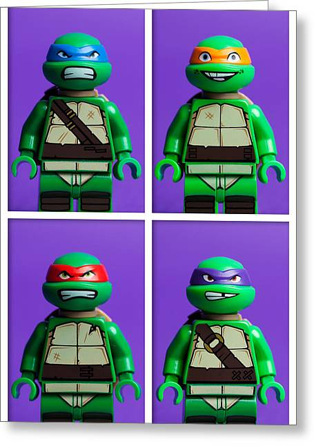 Creative People Greeting Cards - Ninja Turtles Greeting Card by Samuel Whitton