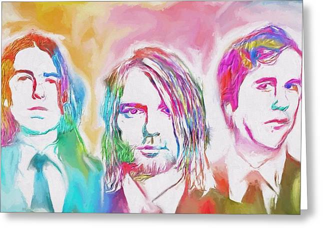 Nirvana Color Splash Greeting Card by Dan Sproul