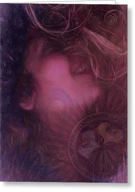 Fineartamerica Greeting Cards - Nirvana Flow Greeting Card by Andrea Ribeiro