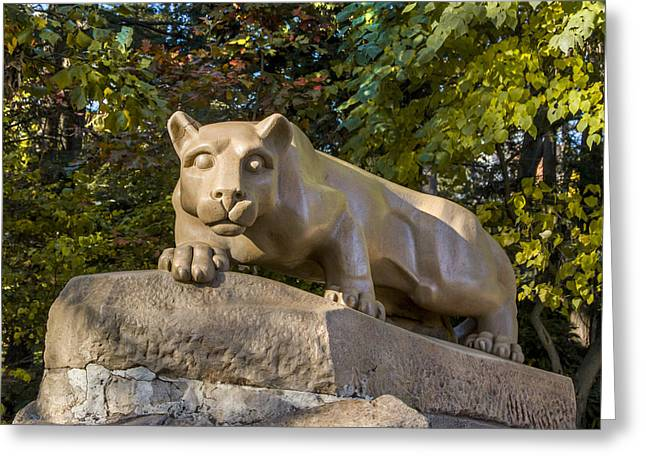 Nittany Lion Greeting Cards - Nitany Lion in Fall Greeting Card by William Ames
