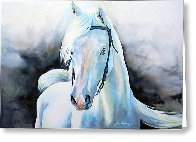 Horse Art Pastels Greeting Cards - Niveous Greeting Card by Jose Espinoza