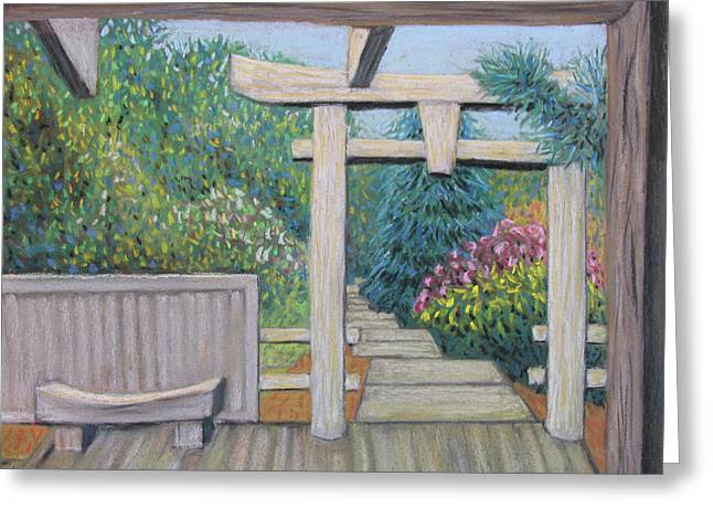 Gate Pastels Greeting Cards - Niwakido Greeting Card by Don Perino