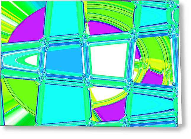 Landscape Posters Greeting Cards - Nixo Abstract H7 Greeting Card by Nixolas Nixo
