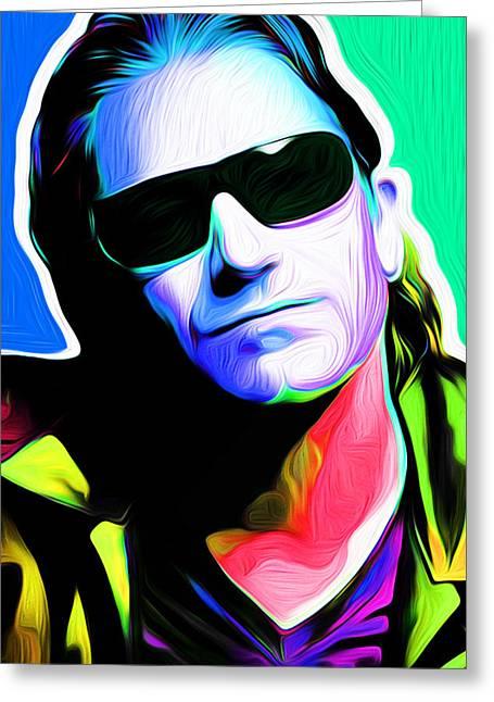 Larry Mullen Jr. Greeting Cards - Nixo Bono 200 Greeting Card by Nixolas Nixo
