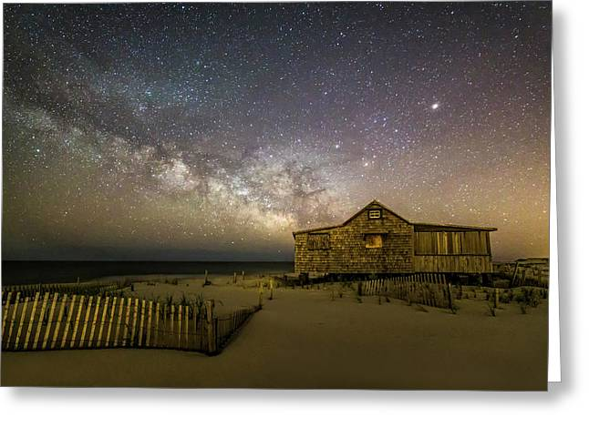 Nj Shore Starry Skies And Milky Way Greeting Card by Susan Candelario
