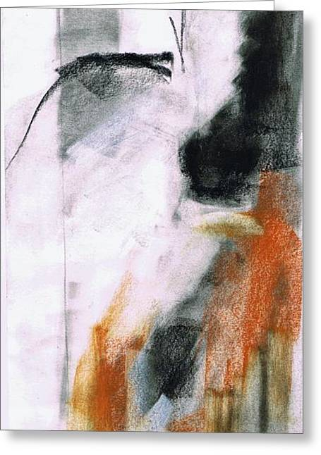 Impressionistic Equine Art Greeting Cards - NM Sketch Two Greeting Card by Frances Marino