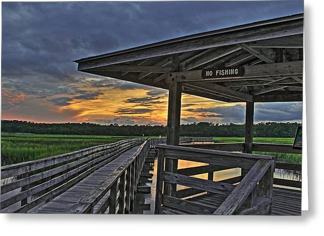 Sunset Framed Prints Greeting Cards - No Fishing Greeting Card by Brian Hamilton