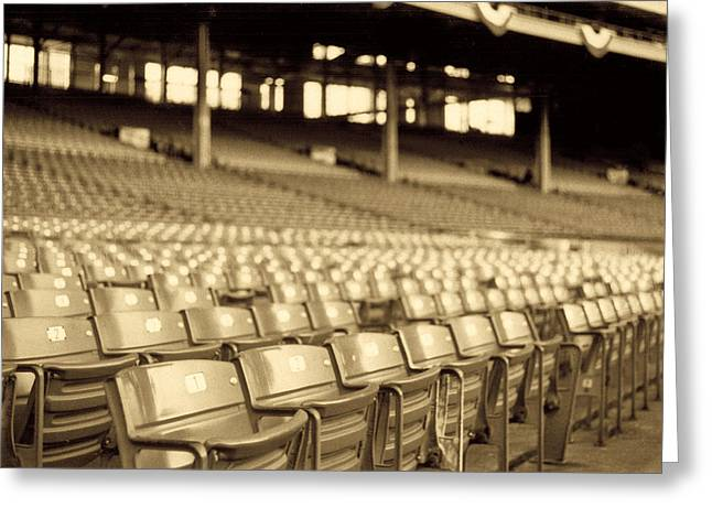 Baseball Stadiums Greeting Cards - No Games Left To See Greeting Card by Kenneth Krolikowski