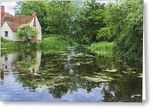 Constable Greeting Cards - No Haywain Greeting Card by Stephen Barrie
