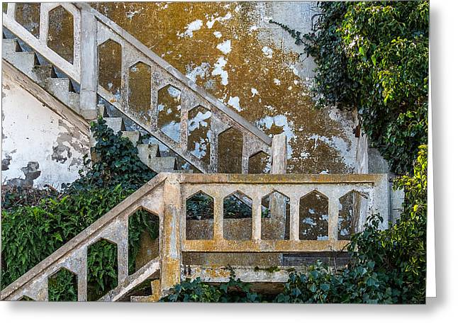 San Francisco Bay Greeting Cards - Stairway at Alcatraz Greeting Card by Patti Deters