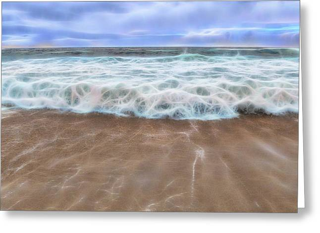 Ocean Art Photography Greeting Cards - Fractal Surf Greeting Card by Patti Deters