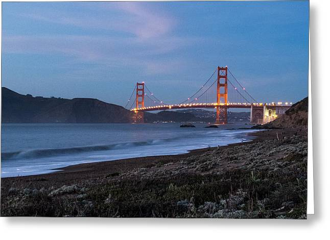 Ocean Art Photography Greeting Cards - Golden Gate Bridge 2 Greeting Card by Patti Deters