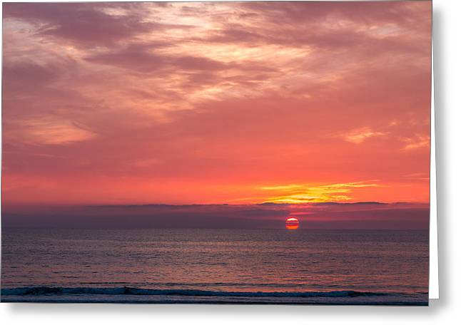 California Beaches Greeting Cards - Newport Beach Sunset Greeting Card by Patti Deters
