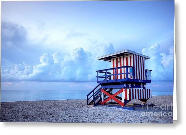 No Lifeguard on Duty Greeting Card by Martin Williams